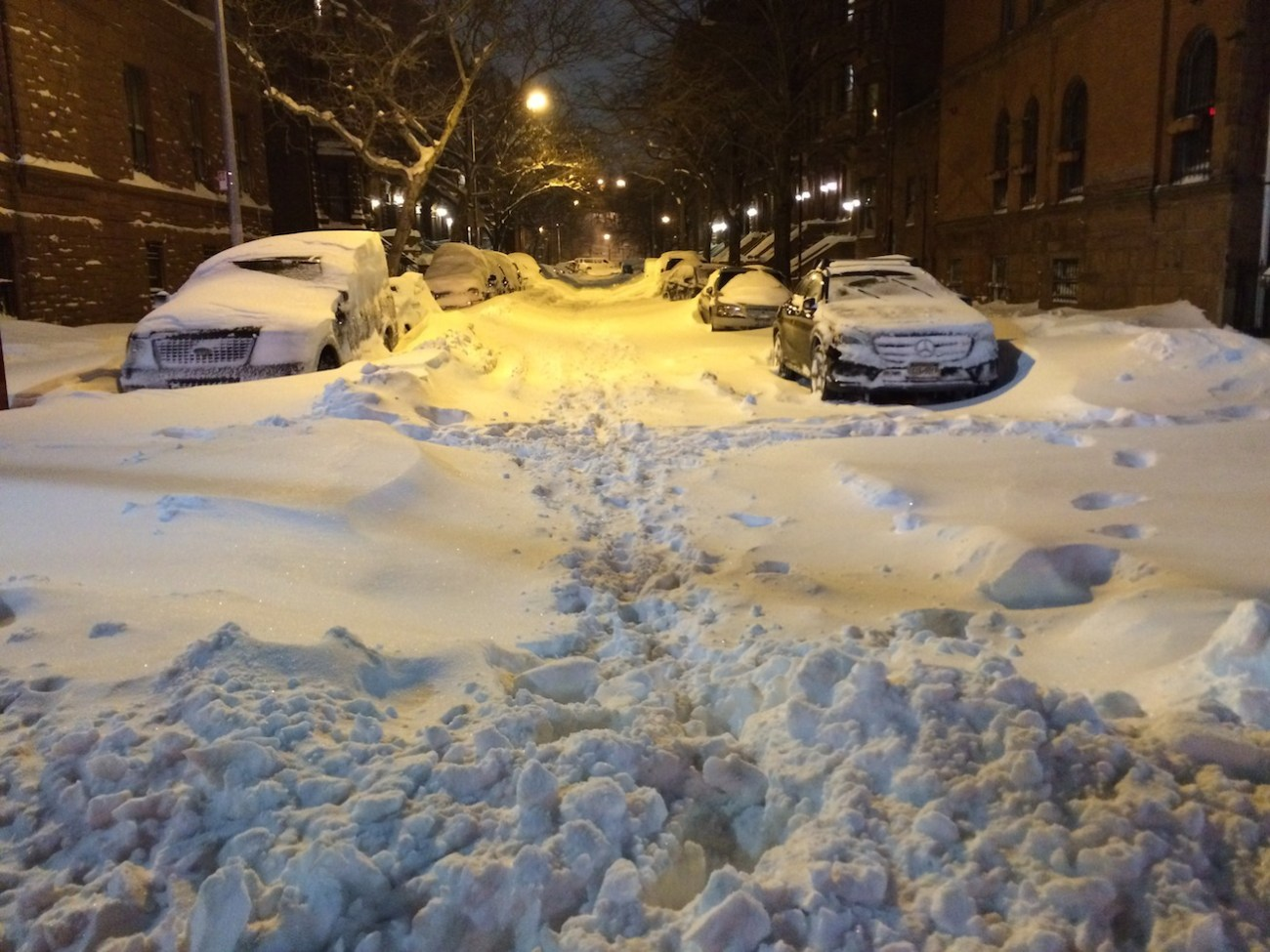 Snow Covered Harlem Street