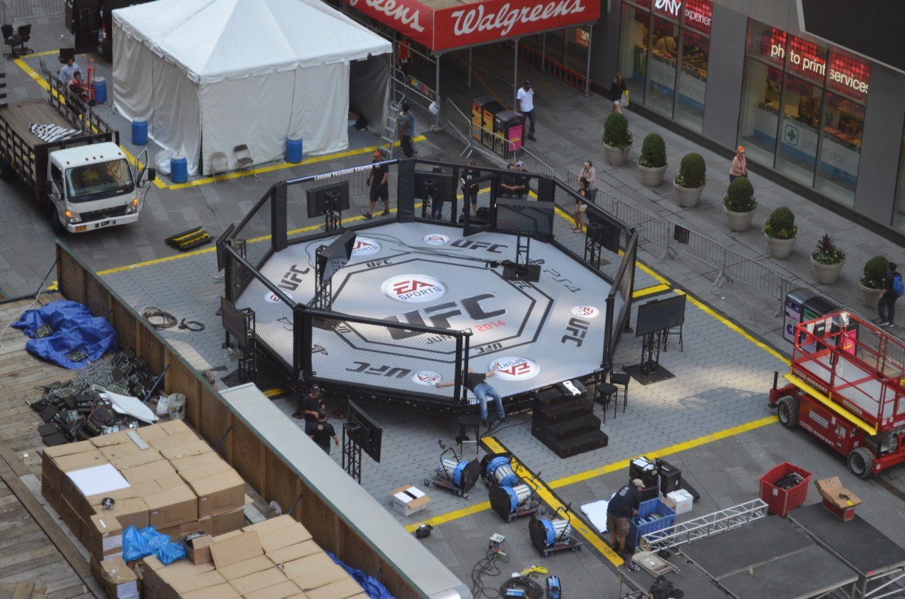 Outdoor Cage Fighting