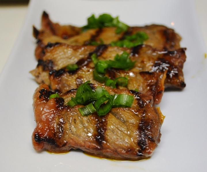 Ponzu and Italian Hot Pepper Marinated New York Strip Steak