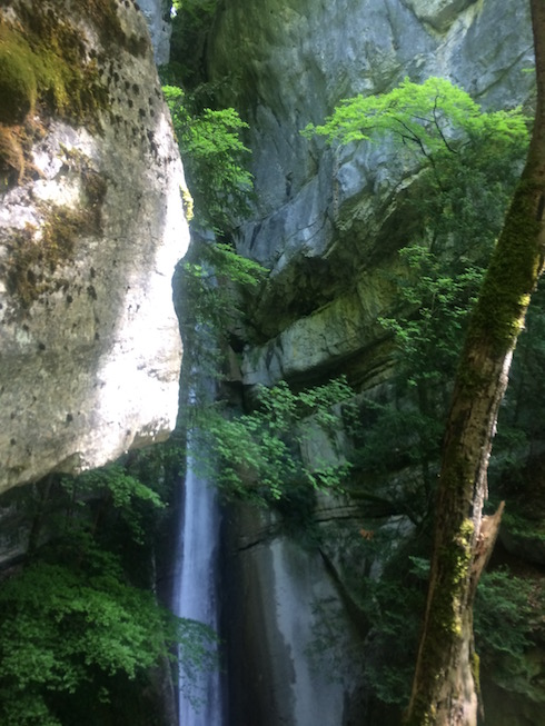 Alpine Waterfall in Annecy France