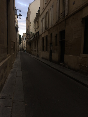 Empty Street in Paris
