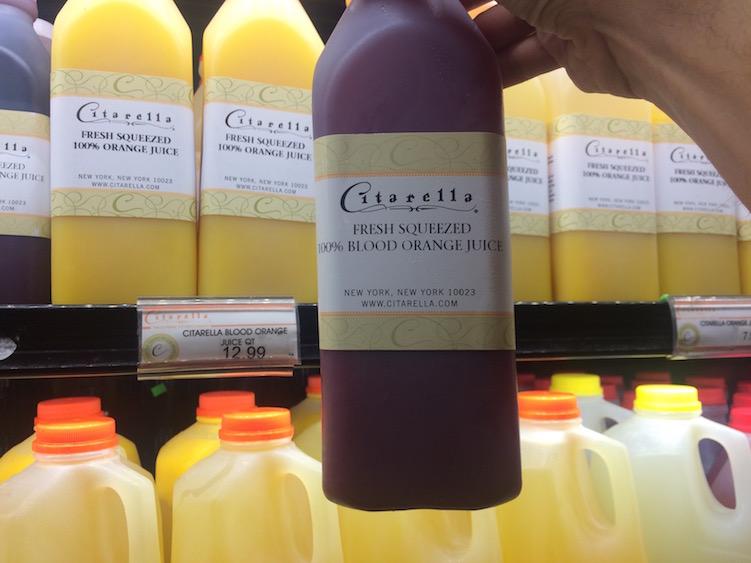 Fresh Squeezed Blood Orange Juice