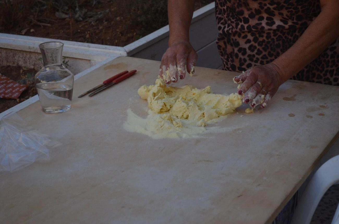 Kneading Orecchiette Pasta in Bari Italy