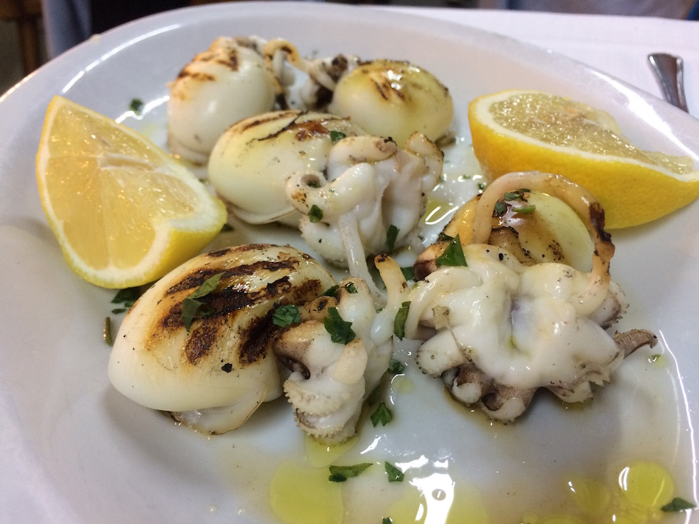 Roasted Cuttlefish in Bari Italy