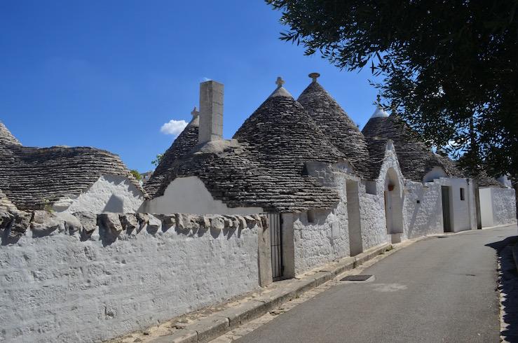 White Stone Houses in Alberobello Italy