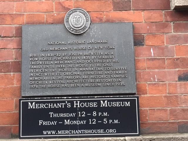 Old Merchants House of New York National Historica Landmark