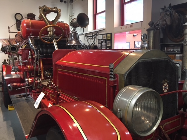 Red Fire Truck at New York City Fire Museum