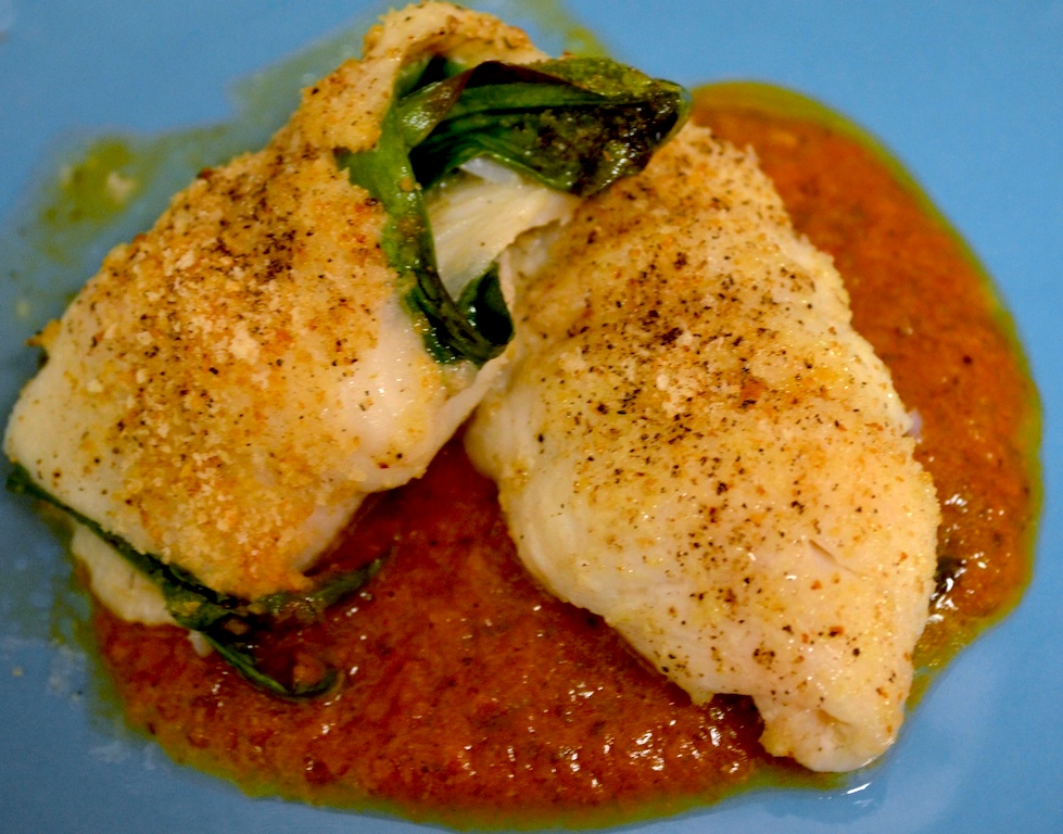 Baked Flounder Fillets with Spring Ramps