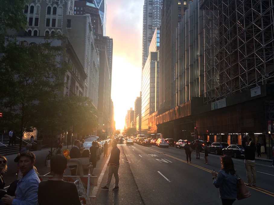 57th Street During Manhattanhenge