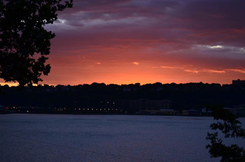 Summer Evening Watching Sunset