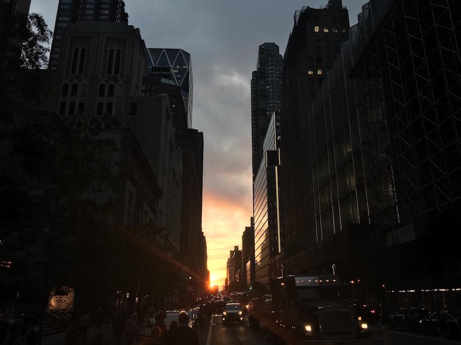 Sunset During Manhattanhenge