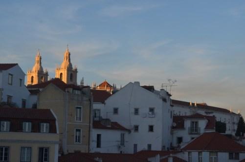 Sunset in Alfama Neighborhood Lisbon