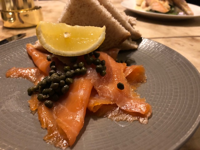 Scottish Smoked Salmon with Capers