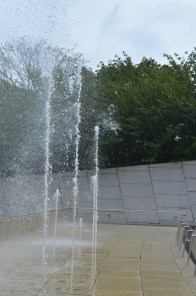Spraying Water at the Brooklyn Museum