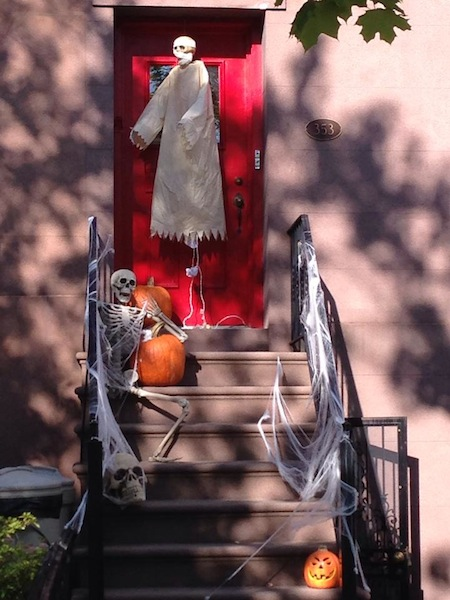 Halloween Decorations in Park Slope
