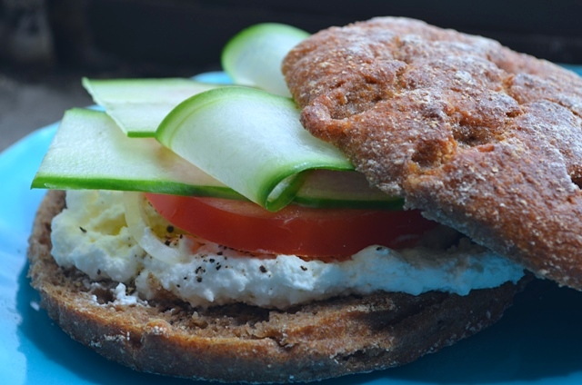 Vegetarian Sandwich with Finnish Rye Bread