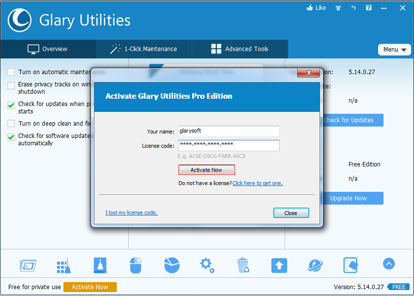 glary utilities free update