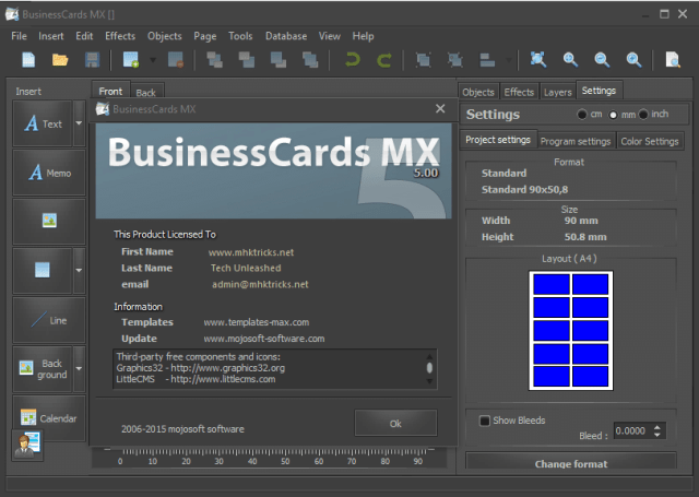 BusinessCards MX 5.00 incl Serial Key Full Version
