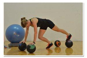 med ball balance