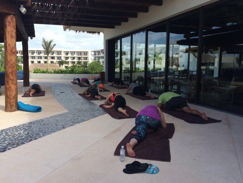 fitness class yoga