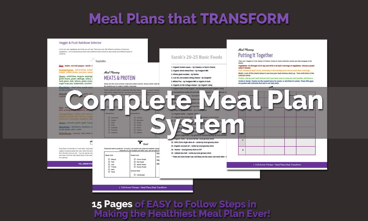 Page of Meal Plan System
