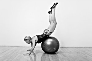 Bottoms Up On Stability Ball