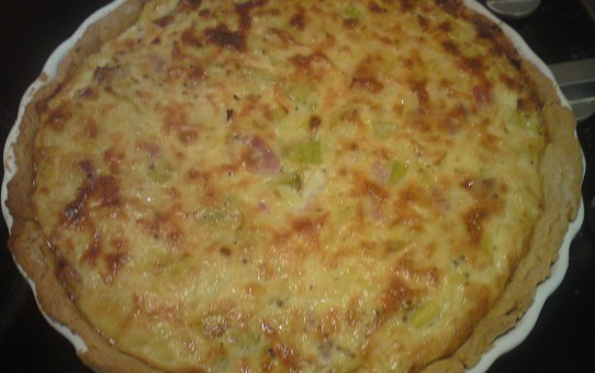 Gluten-Free Bacon and Leek Tart