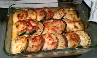 Sausage and Courgette bake