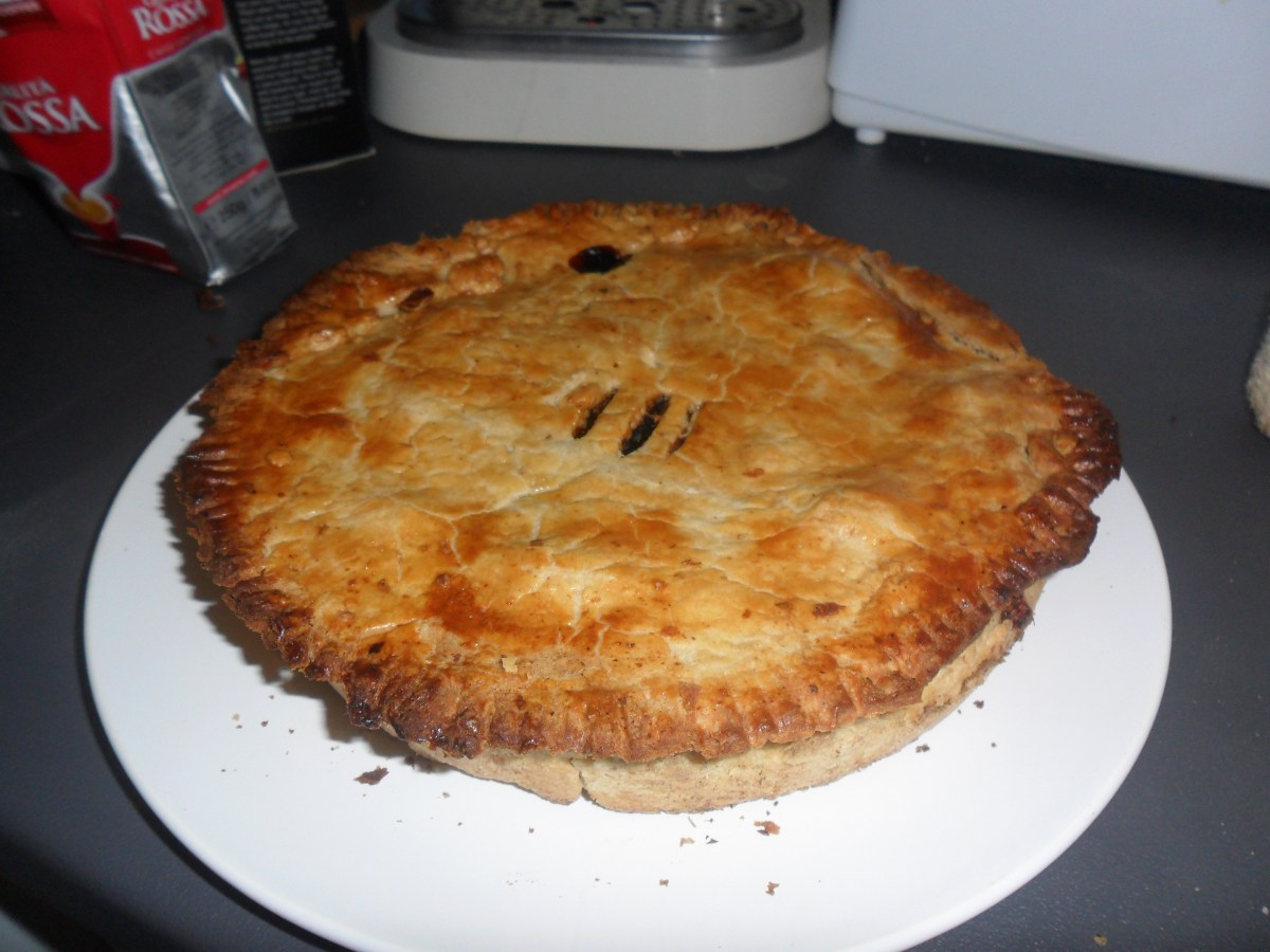Beef and Ox Heart Pie