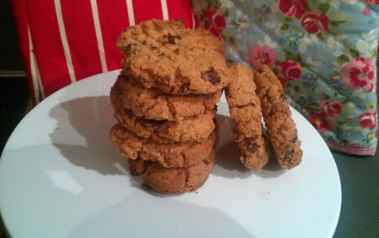 Gluten free peanut butter and chocolate cookies.