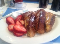 EJ's Diner: French Toast with strawberries