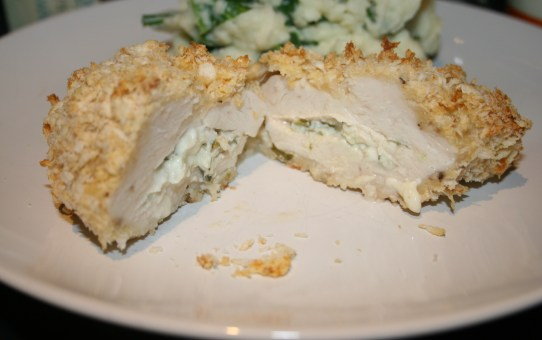 Chicken Kiev with goat's cheese and tarragon