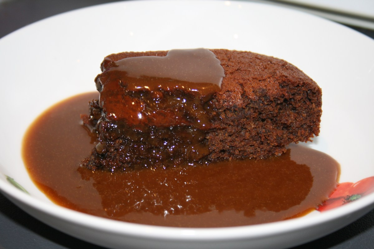 James Martin's Sticky Toffee Pudding with toffee sauce