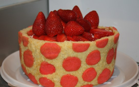 Polka Dot Strawberry Cake