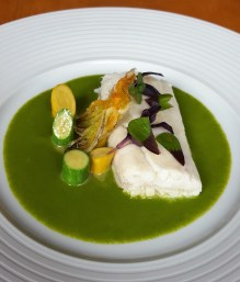 Cod and courgette