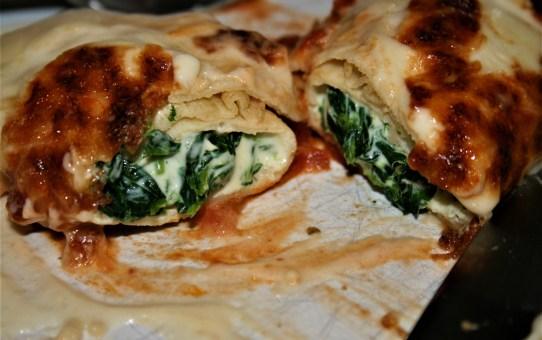 Fresh ricotta and spinach crespellini