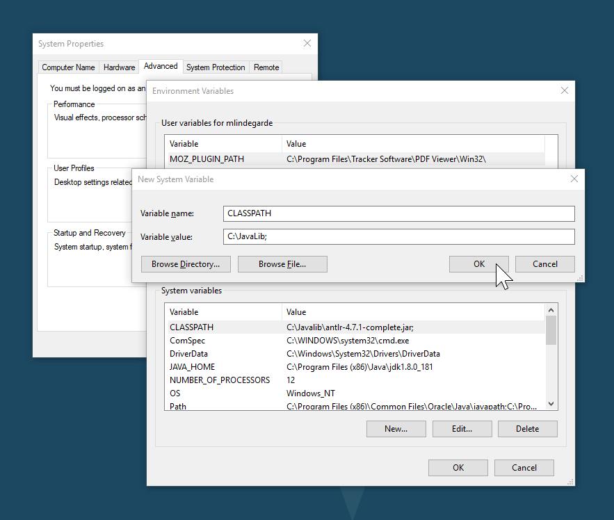 Setting the CLASSPATH Variable in Windows 10 - Full Boar LLC
