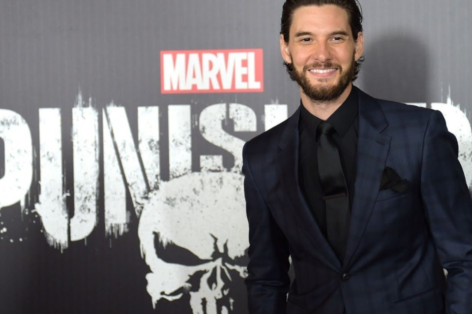 Ben Barnes attending the premiere of 'The Punisher'