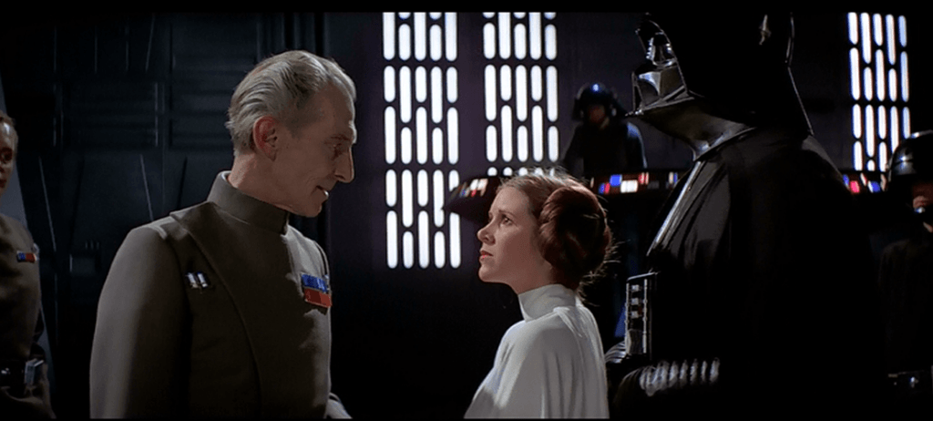 A New Hope - Tarkin, Vader and Leia