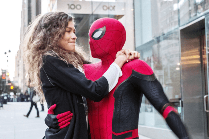 New Look At Tom Holland & Zendaya On The Set Of 'Spider-Man 3'