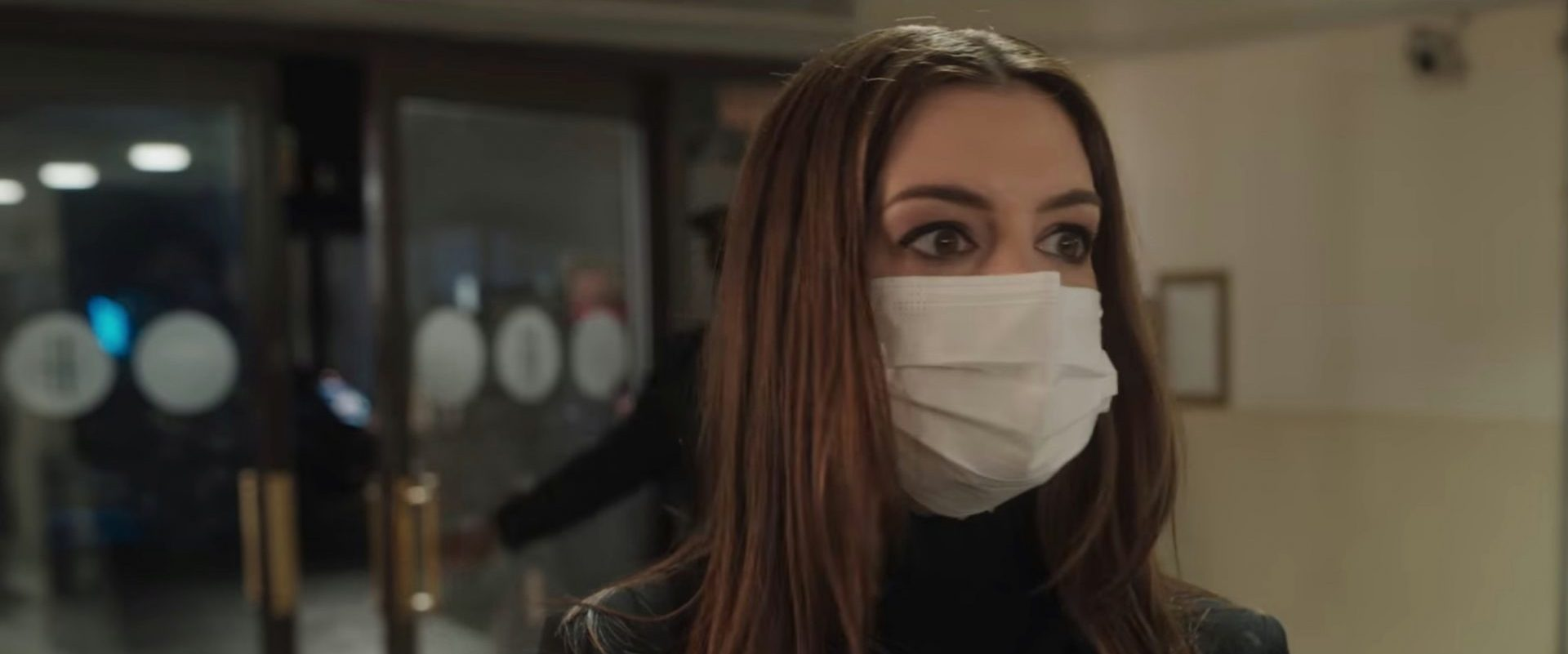 Locked Down - Anne Hathaway in a Mask