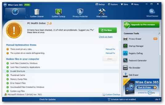 Wise Care 365 Pro 5.1.8 Crack