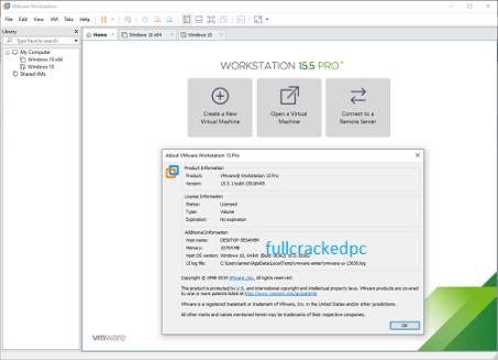 VMWare Workstation Pro 16.1.0 Crack + Key Free Download 2021
