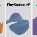 よくわかるVRデバイス比較画像! OculusRift、PlayStation VR (PSVR)、HTC Vive、費用はいくらかかる? スペック、遊べるコンテンツ、ゲームの違いなどをまとめてみた