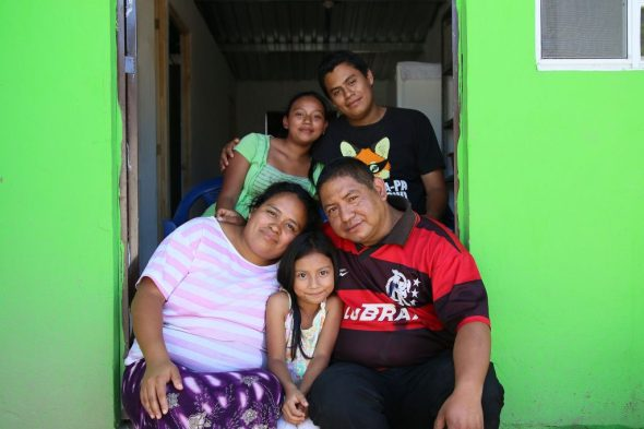 Happy homeowners in Nuevo Cuscátlan, El Salvador
