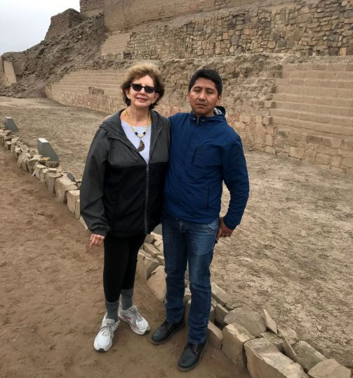 Millard and I at Pachacamac, one of the most recently discovered ancient ruins near Lima