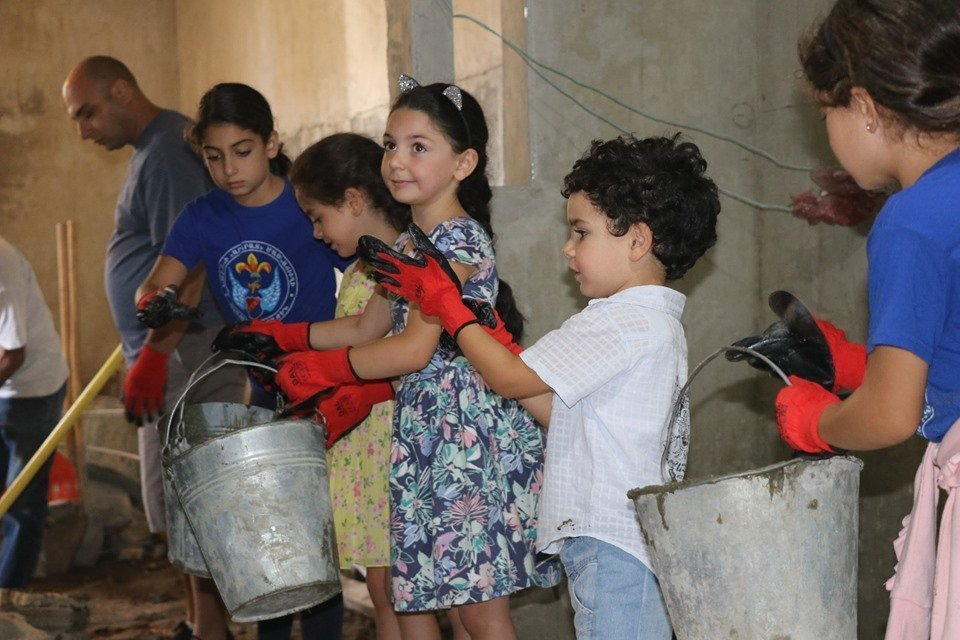 Armenian children eager to work!