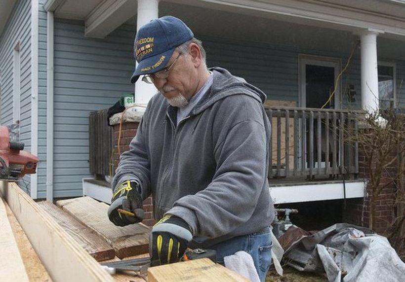 Making sure a Vietnam veteran has a decent home in Joplin, Missouri.