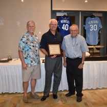 Photo: Steve Gosoroski (center), St. Patrick's Catholic Church, recipient of a 2016 Matthew 25 Award, with FCH Board Members Graham Houston (left) and Charley Lamb (right)