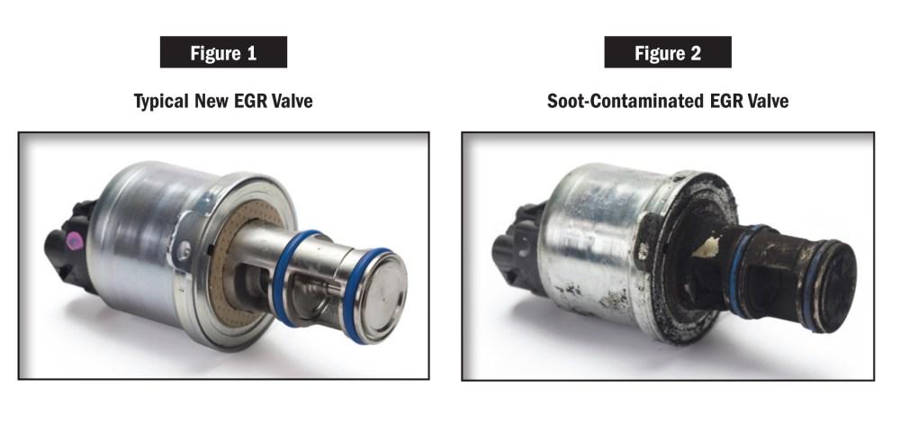 medium resolution of old and new egr valve